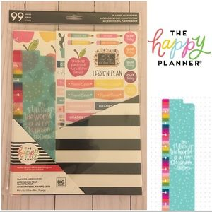 The Happy Planner - Teacher ed. accessories NWT